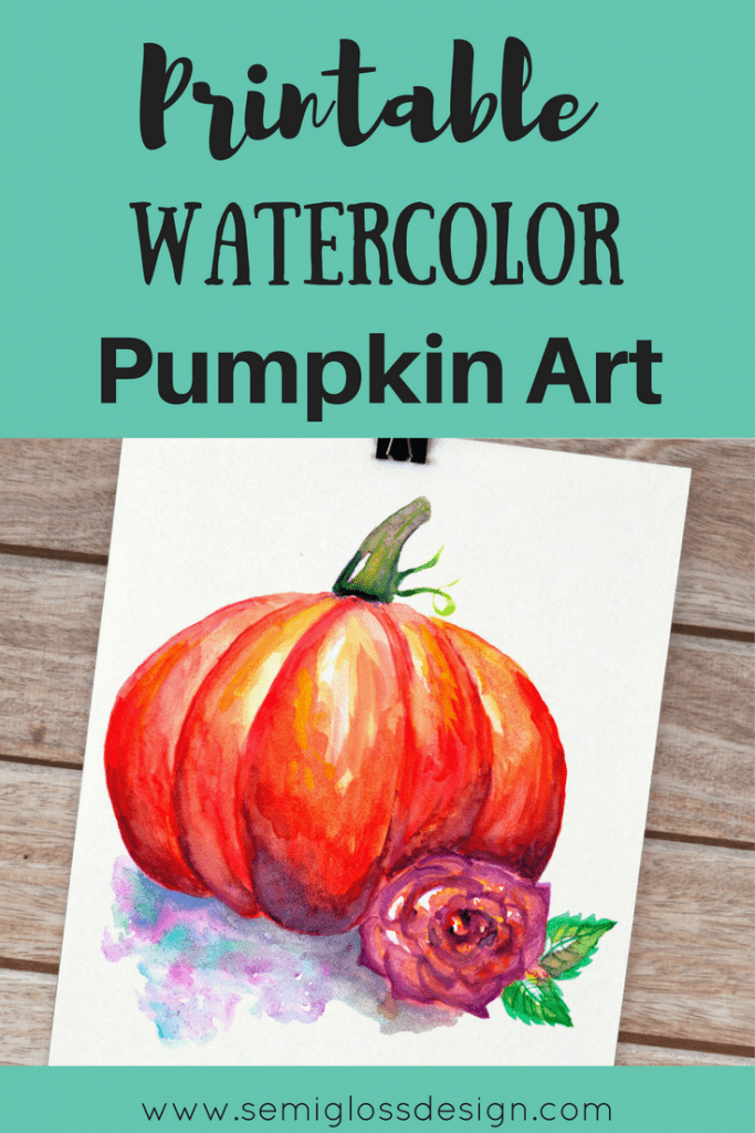 Watercolor pumpkin art