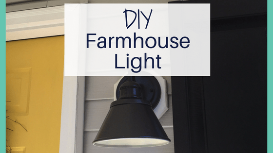 DIY exterior farmhouse light | curb appeal | farmhouse exterior | curb appeal on a budget