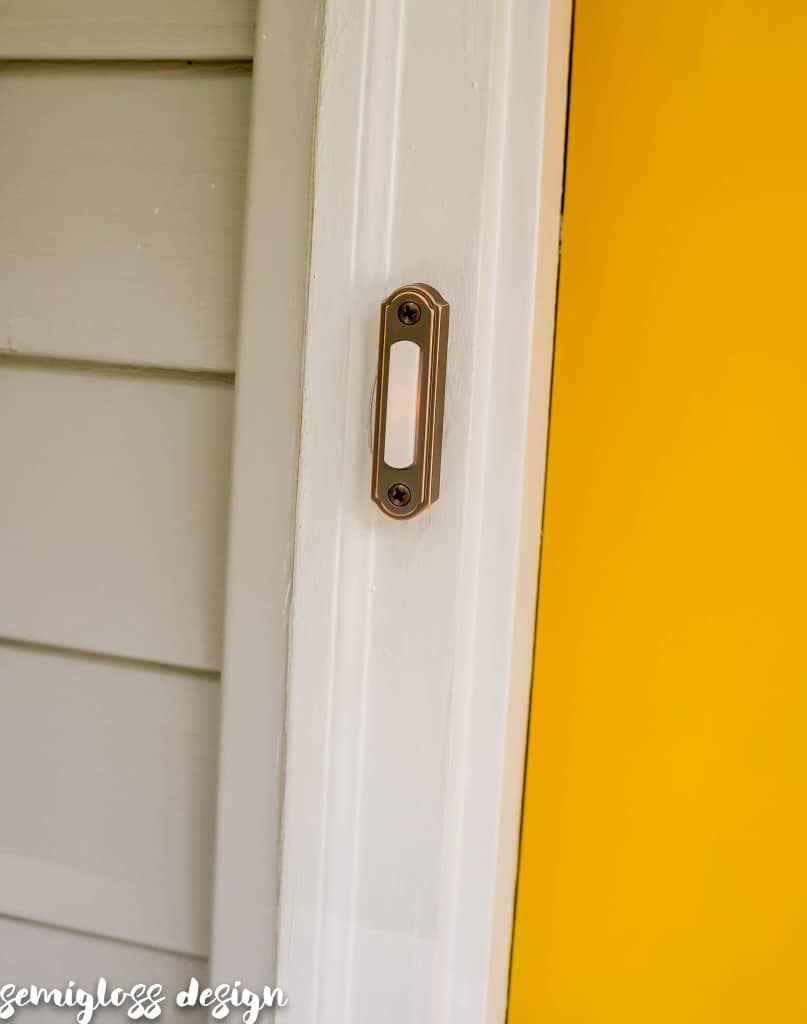 install doorbell button | curb appeal | front porch update | front door update | easy curb appeal