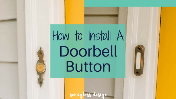 How to install a doorbell button the easy way. In just a few minutes, you can improve your curb appeal with this easy project.