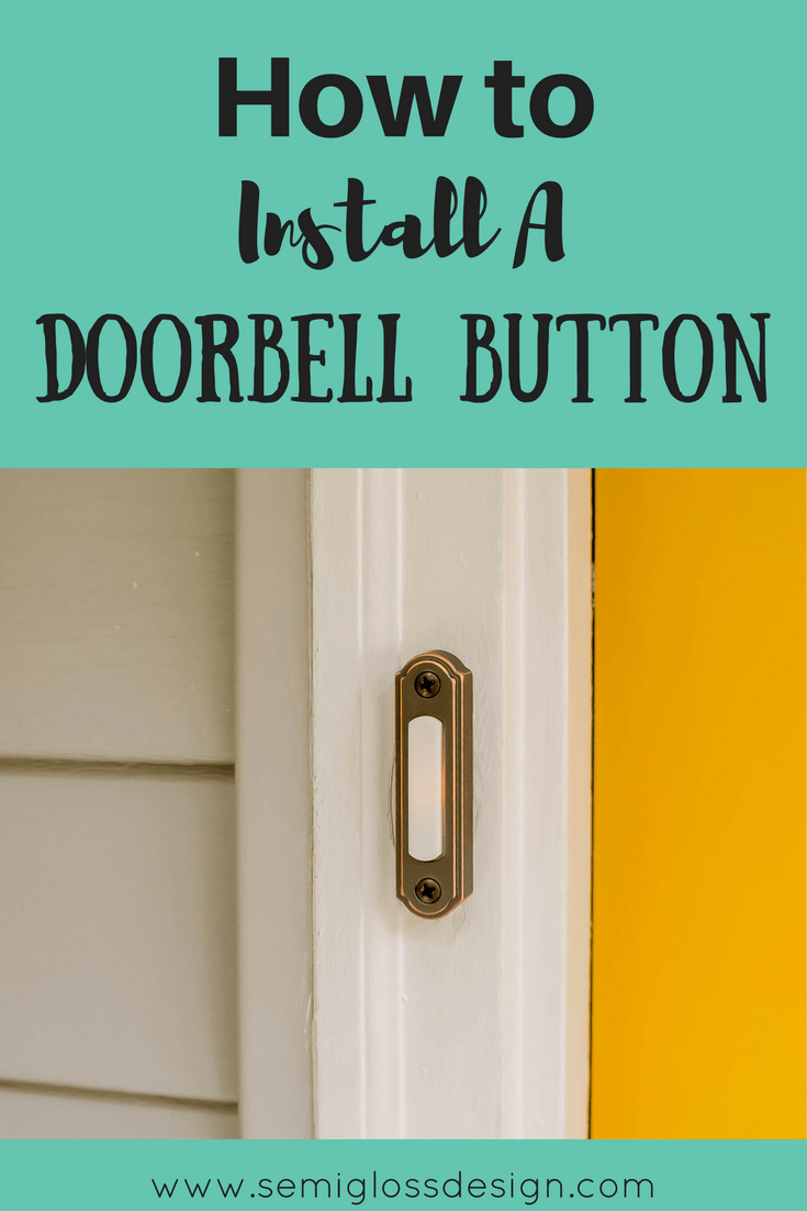 How To Install A New Door Chime Fix My Shack - How To Replace A ...
