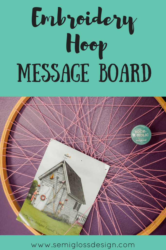 Make an embroidery hoop message board with a few simple items in just a few minutes. Gotta love easy crafts!