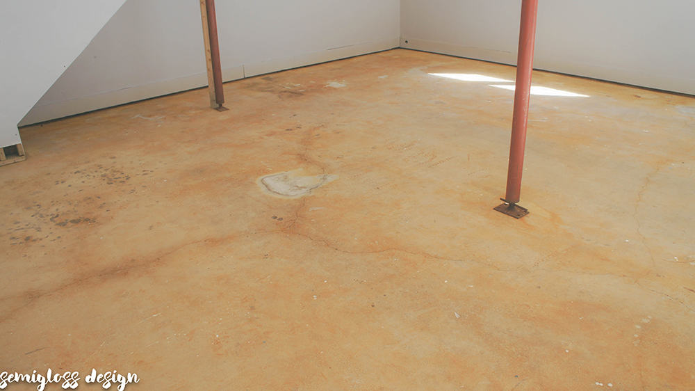 Are your garage floors gross like mine? Is it possible to stain old concrete and make it look good? The answer is complicated.
