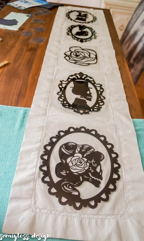 Learn how to make your own table runner with heat transfer vinyl. I'm trying out a new brand of HTV that is affordable and easy to use! Who doesn't love HTV projects?