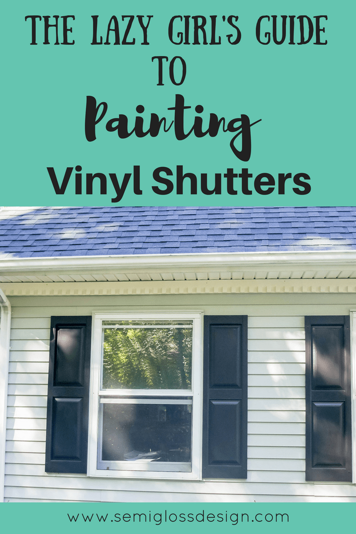 Learn how to paint vinyl shutters.