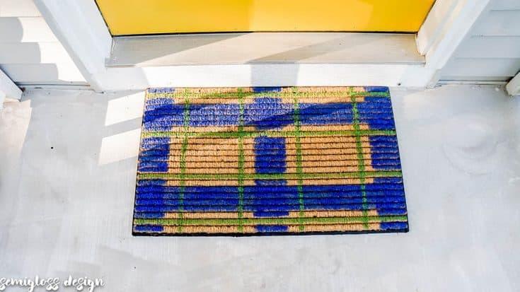 Plaid Patterned Door Mat