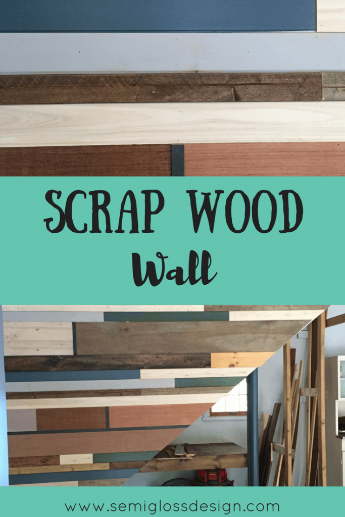 This scrap wood project uses up all those scraps from projects past. It also creates a work of art on your walls! Use your scrap wood for a wall.