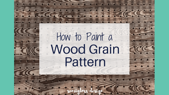 Learn how to paint a wood grain pattern. This faux painting technique is much easier than you would think!