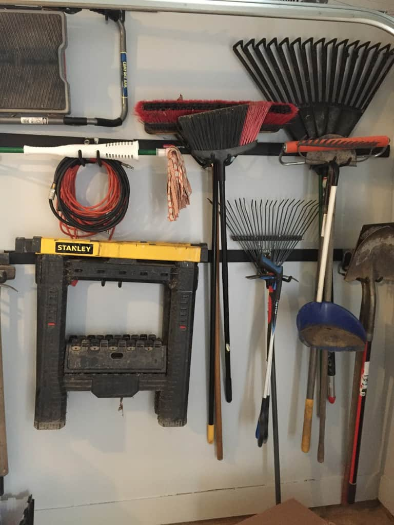 organizing tips for a garage | garage organization | organization ideas | garage storage | tool organization | garage pegboard
