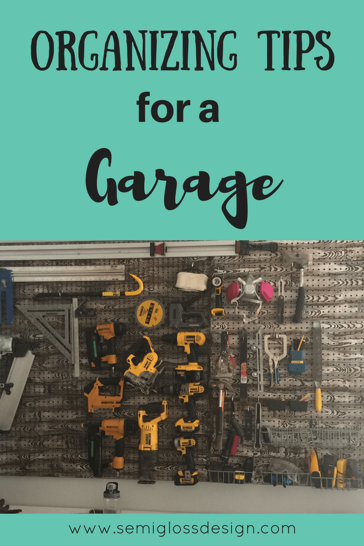 Organizing tips for a garage