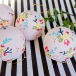 Easy Floral Hand Painted Christmas Ornaments