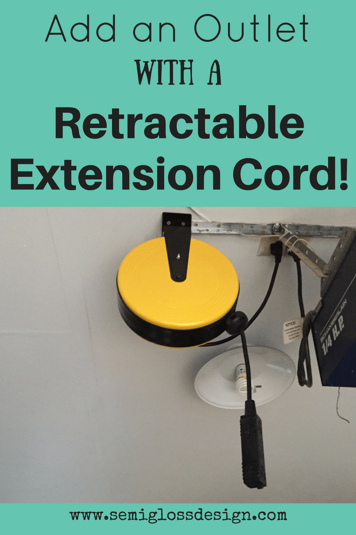 add outlet | retractable extension cord | garage organization | DIY add outlet