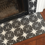 How to Paint Fireplace Tile with a Stencil