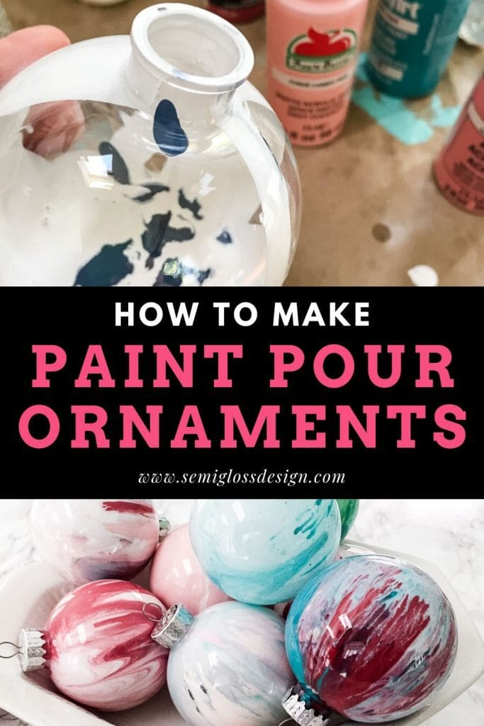 paint pour ornaments collage