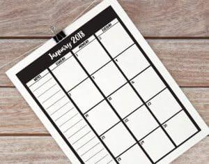 Printable 2018 calendar. #calendar #printable #printableplanner #2018