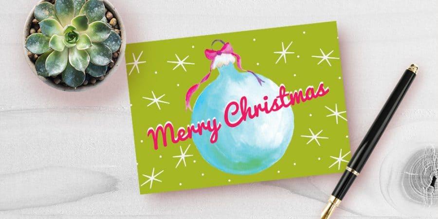 Get a free printable Christmas card! #christmascard #printablecards #printablechristmascard #printablechristmas
