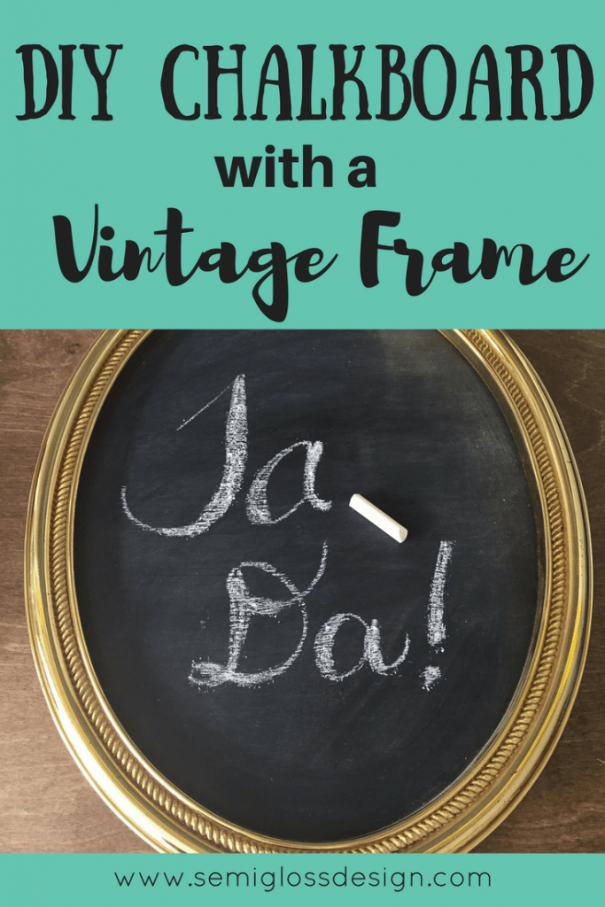 Repurpose old picture frames and make your own DIY chalkboard! This simple DIY decor project is so easy! Make a chalkboard for your home today!