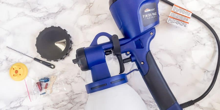 Using my HomeRight Super Finish Max Extra sprayer for the first time. Tips and tricks to make it easier. #paintingfurniture #paintsprayer #spindles #painting