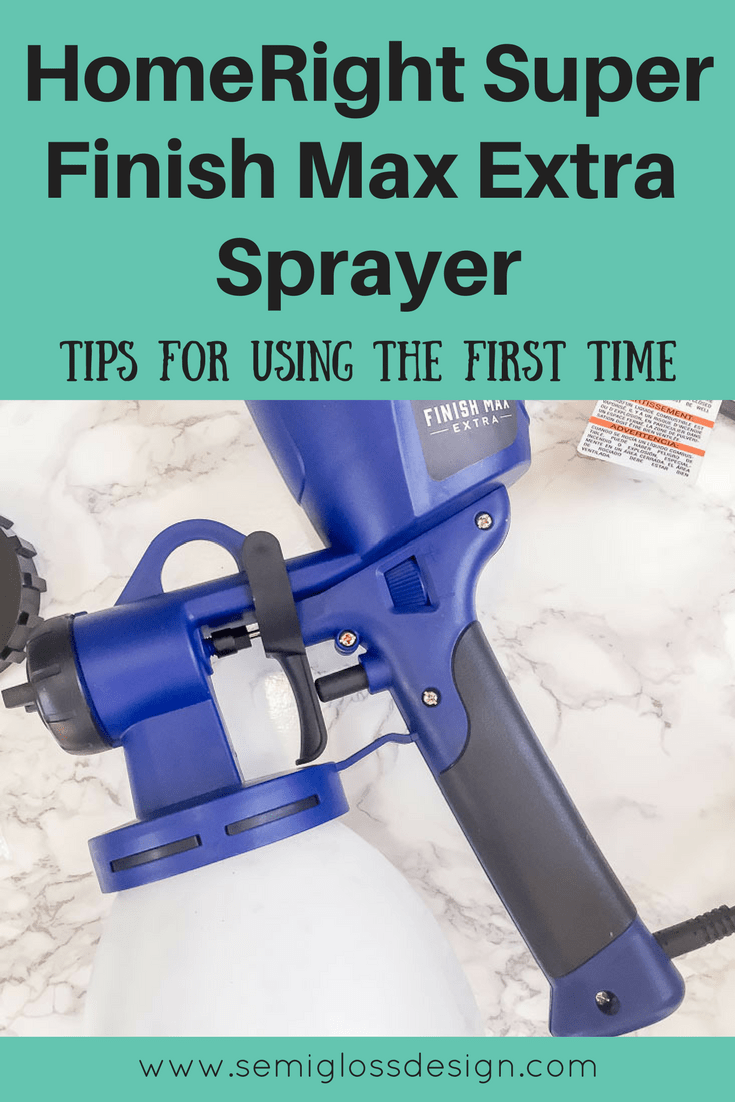 Learn how to use a paint sprayer. A paint sprayer makes painting complex furniture a breeze! Paint all of the chair spindles in minutes with a paint sprayer!