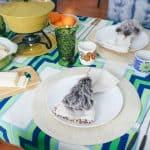 Apres Ski Tablescape Blog Hop: Vintage Fondue Party