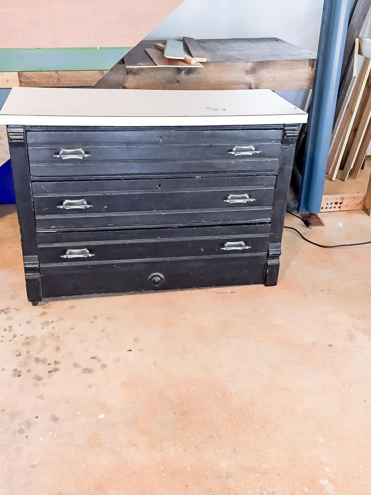 Don't pass up that piece of furniture that has an ugly or missing top! Learn how to build a dresser top! #furnituremakeover #dresser #kregjig #generalfinishes