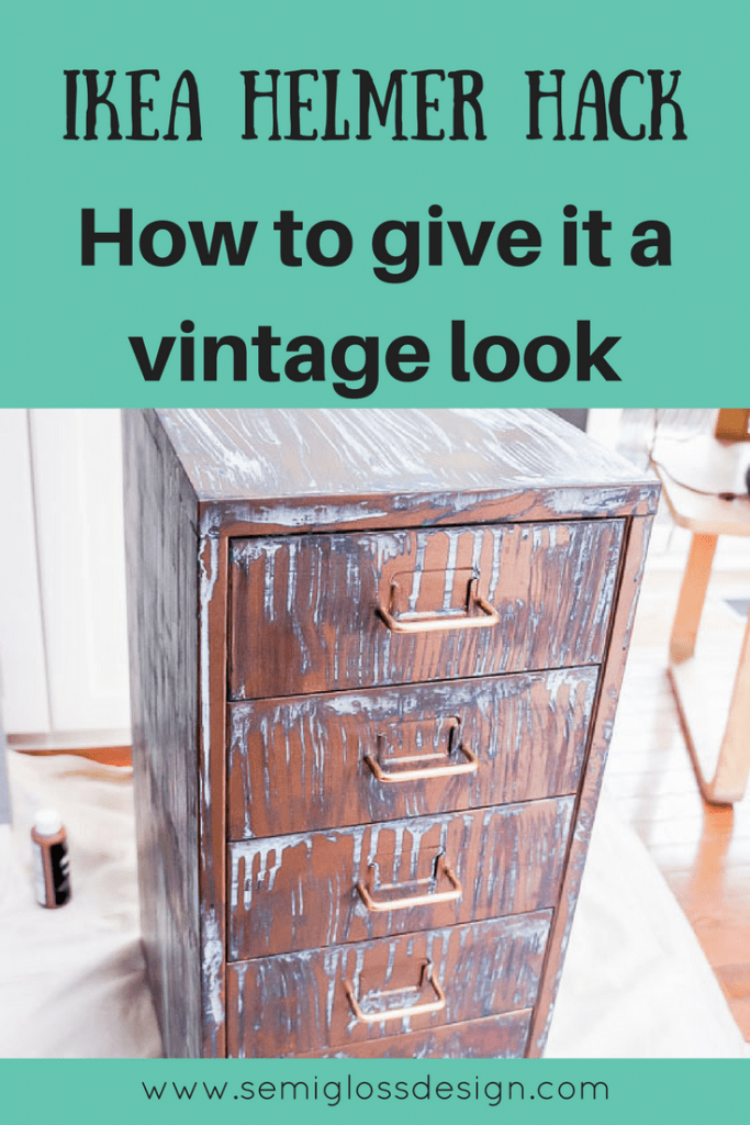 IKEA helmer hack, give it a vintage look