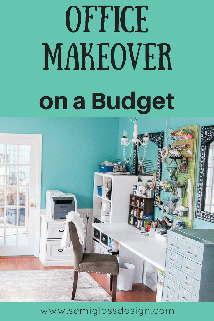 Check out this budget friendly office makeover. #officedecor