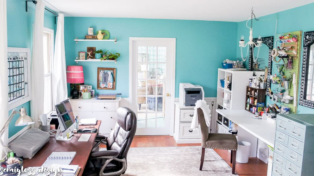 Budget Friendly Office Makeover Reveal