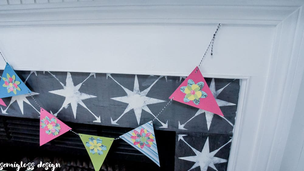 Make a Paper Flower Banner for Spring (plus flower cut files)