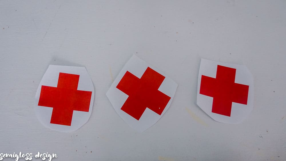 Paper Red Crosses