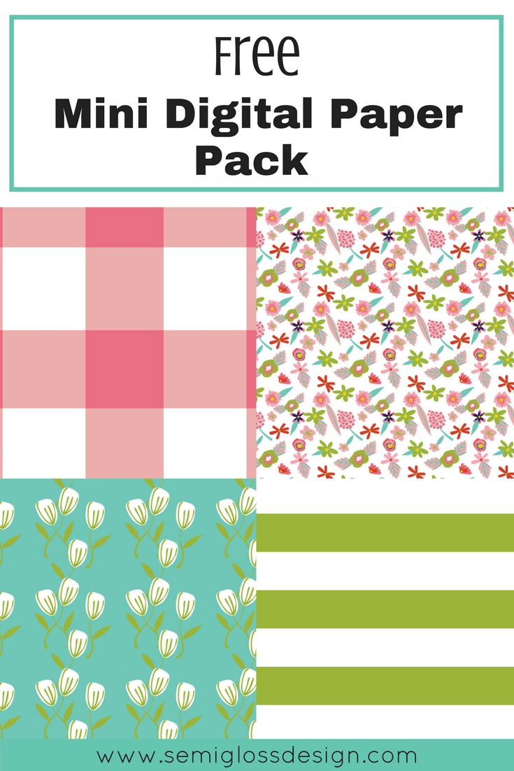 Free mini digital paper pack