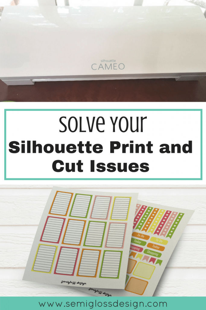Solve your Silhouette print and cut issues with this easy trick. No more wonky cuts! #silhouette