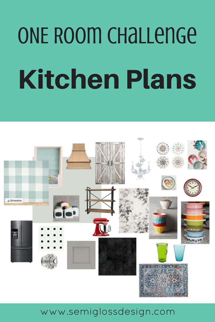 Kitchen plans for the One Room Challenge. A simple update to add function and beauty to my kitchen.