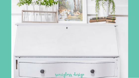 In addition to paint, hardware is the fastest way to change the feel of a piece of furniture. This secretary desk makeover went from stuffy to modern with a few simple changes.