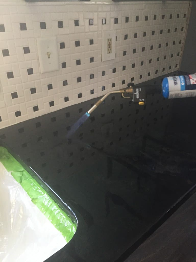 Superbe Get Rid Of Bubbles With A Blowtorch; In Normal Humidity, The Epoxy Concrete  Countertop ...