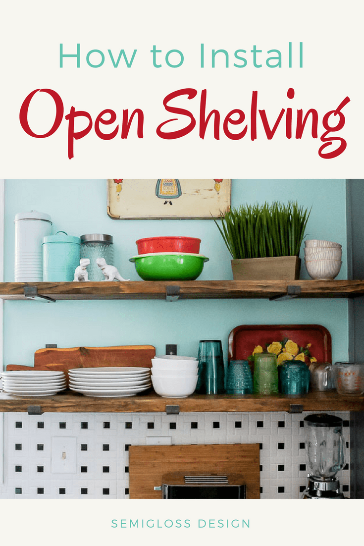 Learn how to install shelf brackets that mimic floating shelves. Love the look of floating shelves, but looking for an easier solution? Minimal shelf brackets might be the answer to your open shelving dreams!