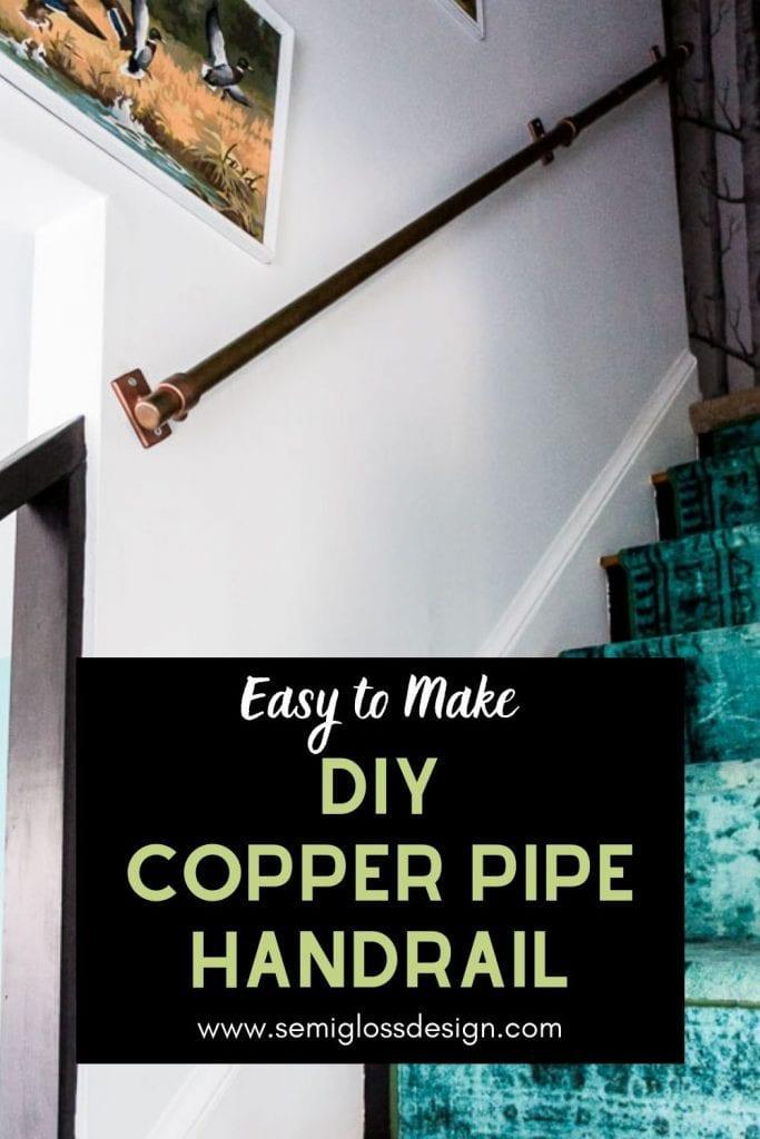 DIY copper pipe handrail