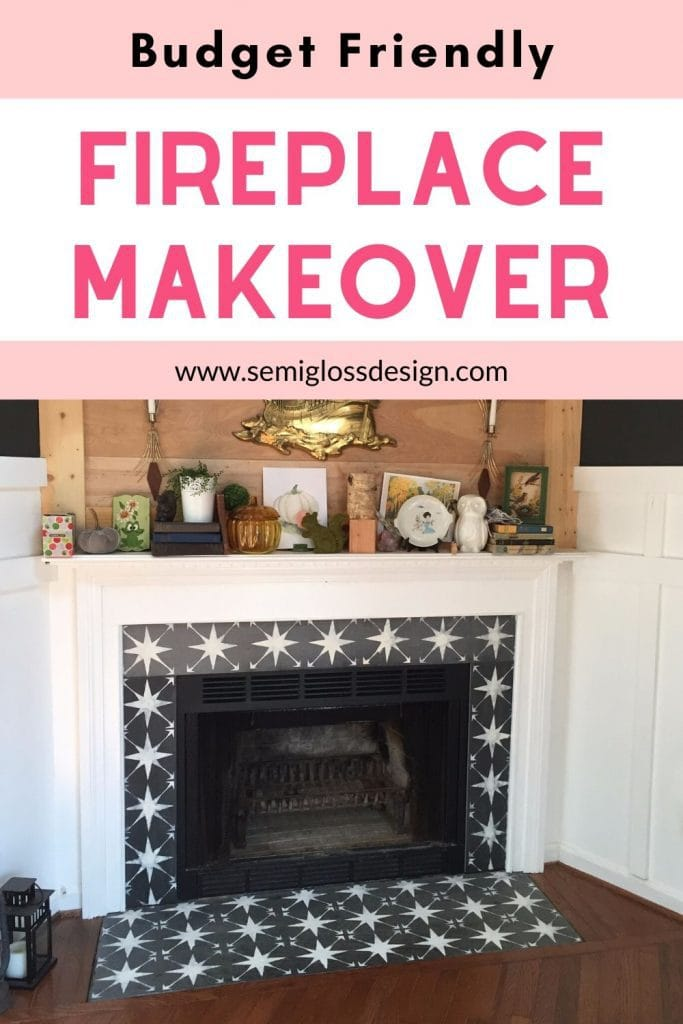fireplace makeover collage