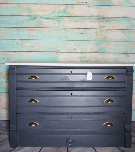 dresser before - Tips And Tricks When Using Dark Wax For Antiquing Furniture