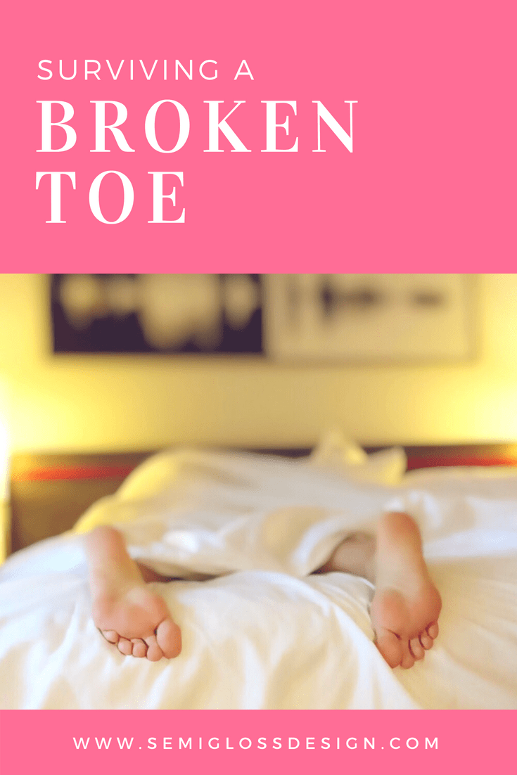 So you broke your toe. Now what? Learn what to do if you break your toe, advice beyond the medical scope for a broken bone.