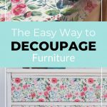 pin image - floral dresser collage