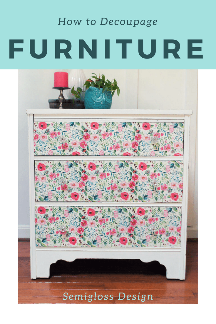 Learn How To Decoupage Furniture
