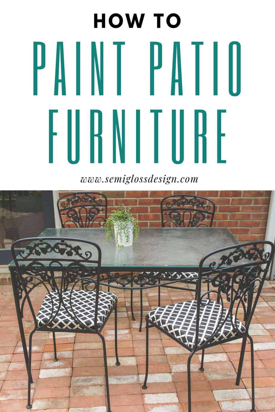 how to paint patio furniture