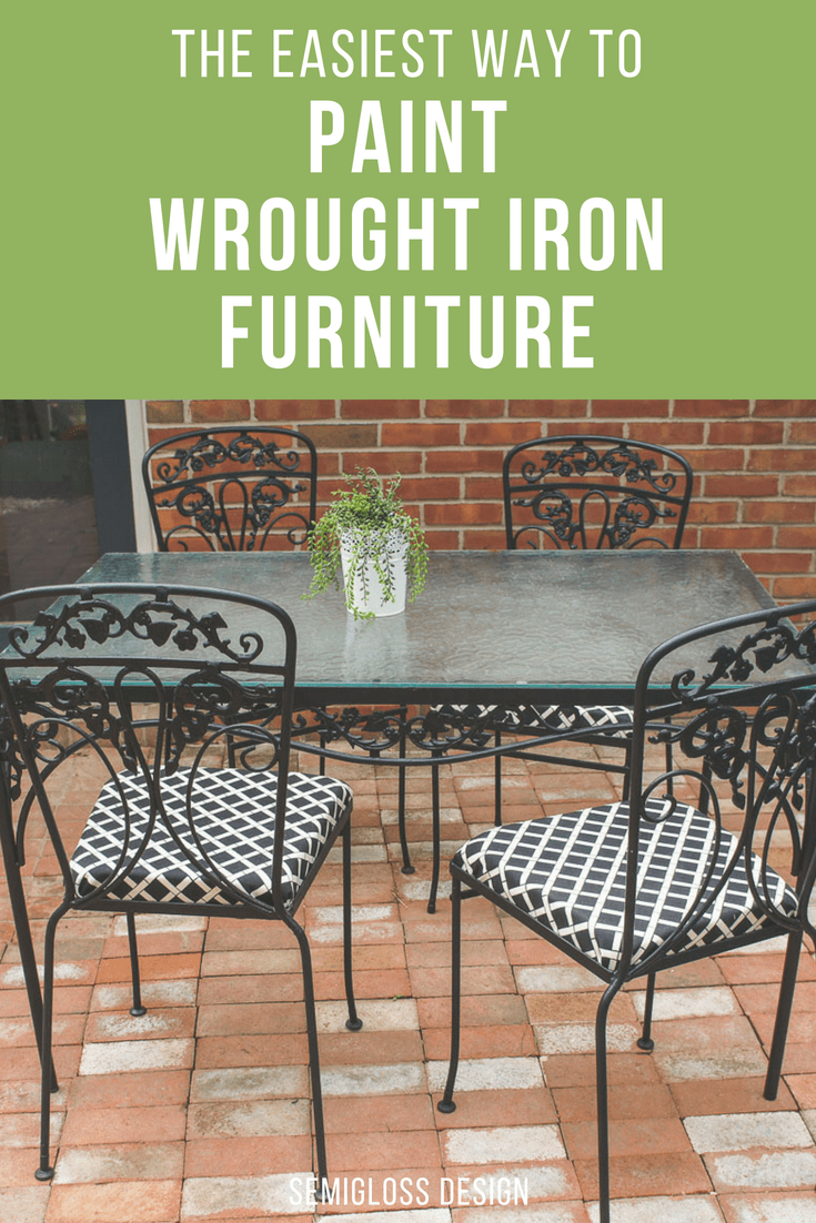 the easy way to paint wrought iron furniture