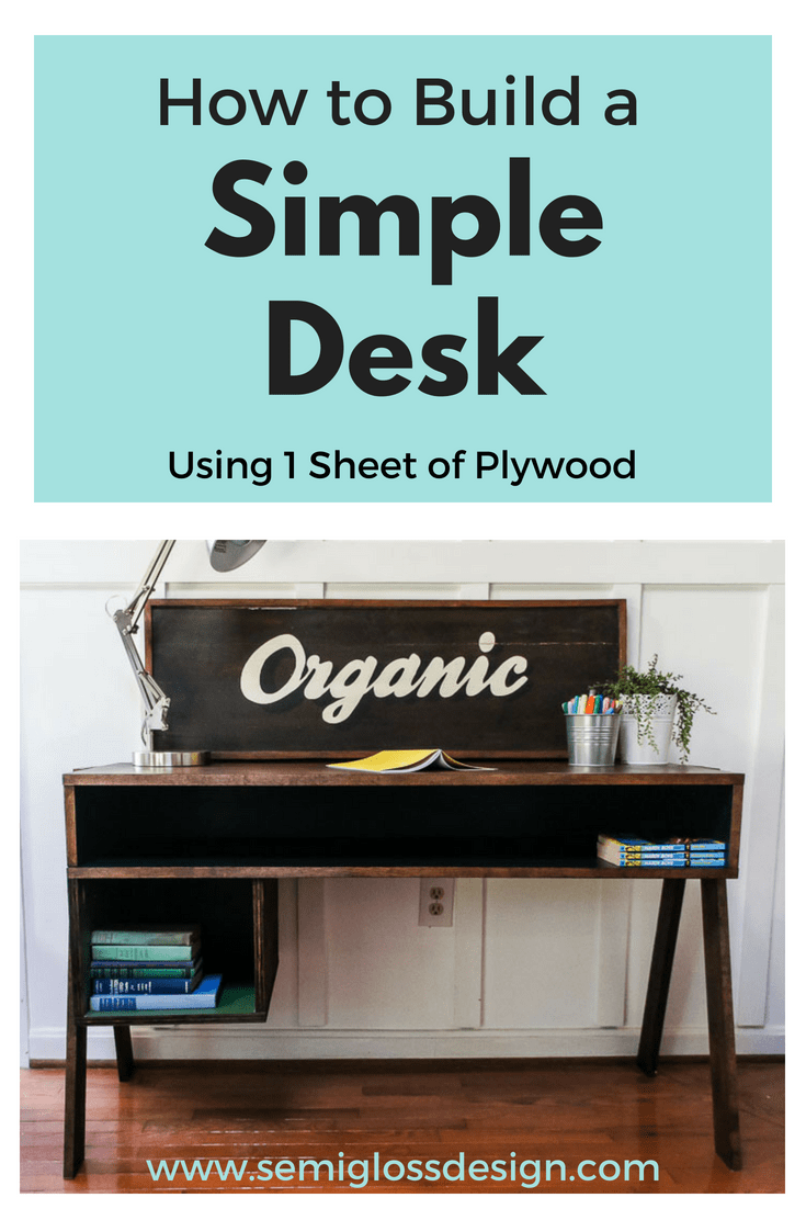 Learn how to build a simple desk. Just in time for back to school!
