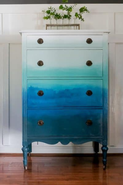 How to Create a Gorgeous Blended Ombre Dresser