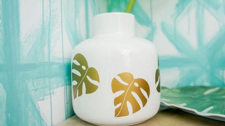 Monstera Leaf Vase