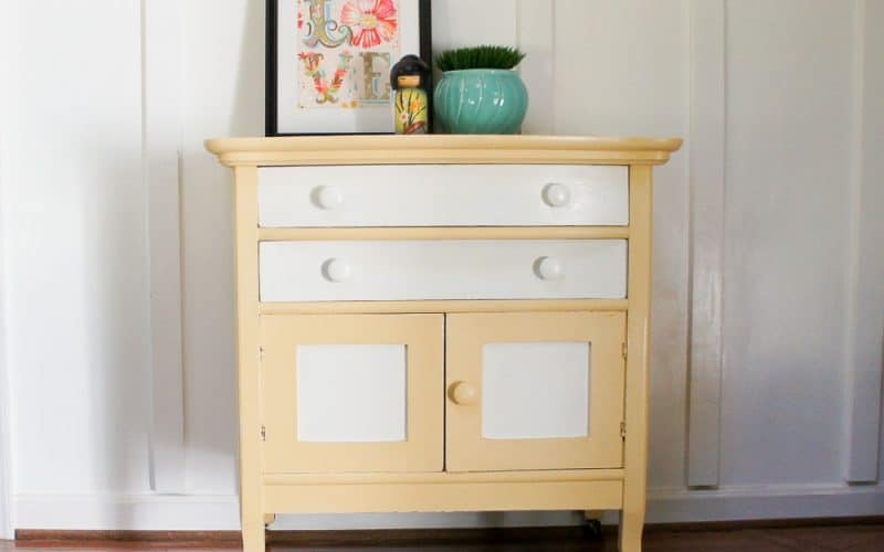 painted washstand