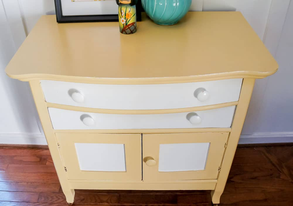 painted washstand makeover