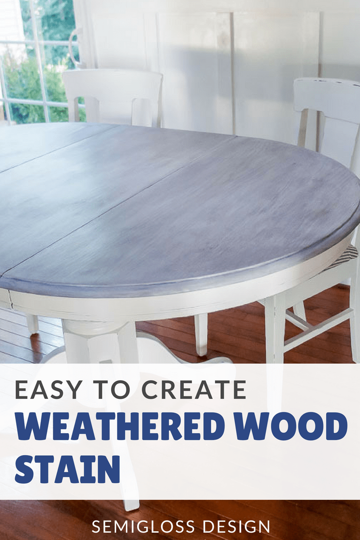 Weathered wood stain tutorial
